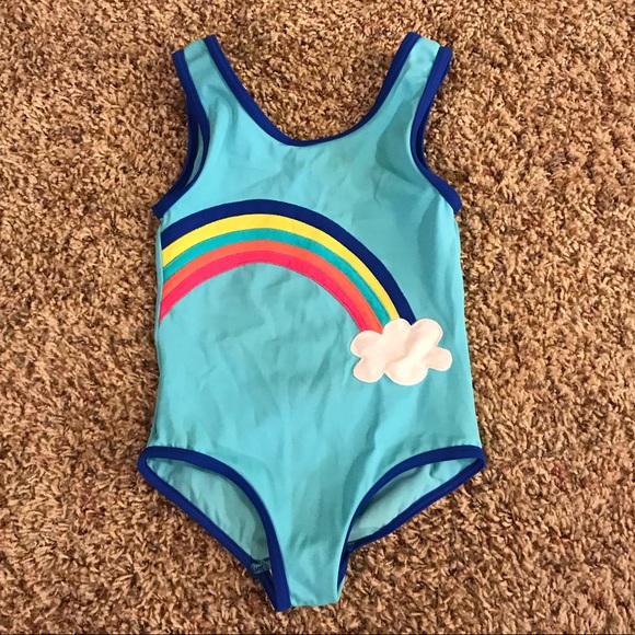 62bc1301db405 MINI BODEN 4 4T Aqua Rainbow Swimsuit One Piece. M 5c46a8e5c89e1dfbe9a60f5a